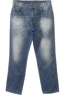 Calça Jeans Sawary Plus Size Skinny Azul