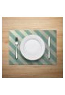 Jogo Americano 4Pçs Abstrato Verde - Mdecore
