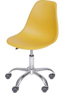 Cadeira Eames Dkr- Aã§Afrã£O & Prateada- 93X47X41Cm