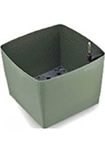 Cachepô/Horta Autoirrigável Verde Folha