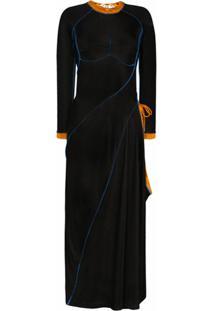 Y/Project Vestido Assimétrico Com Amarração - Preto