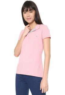 Camisa Polo Malwee Reta Lisa Rosa