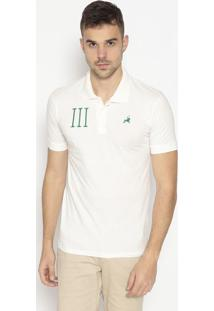 Polo Com Bordado- Off White & Verdeclub Polo Collection