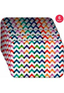 Jogo Americano - Love Decor Colorful Abstract Kit Com 6 Peças.