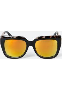 a58695f7b0fb0 Óculos De Sol Amarelo Flanela feminino