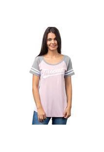 Camiseta College Player-Rosa-M