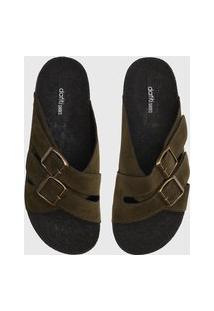 Rasteira Birken Dafiti Shoes Fivelas Verde
