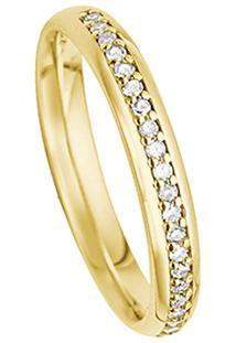 Aliança Noiva Ouro Amarelo E Diamantes Emotion