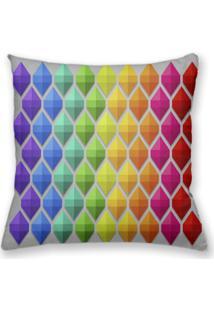 Capa De Almofada Decorativa Own Geométrica Colorida 45X45 - Somente Capa