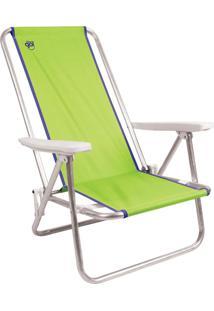 Cadeira De Praia Reclinável Island Em Alumínio Verde - Coleman Go!