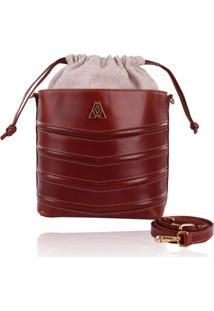 Bolsa Campezzo Bucket Bag Cinza Marrom - Tricae