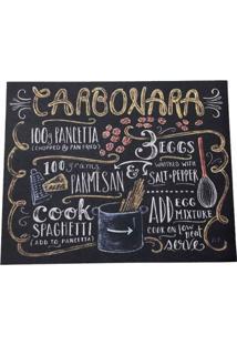 Jogo Americano Cozinha Decorativo Personalizado Carbonara