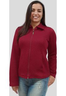 Jaqueta Metalassê Tomasini Tricot Outono/Inverno 2020 Vermelho