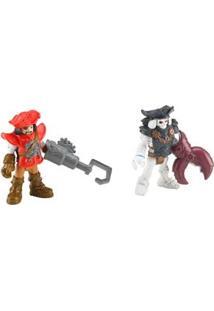 Imaginext Mattel Pirata Básico - Pirata E Esqueleto