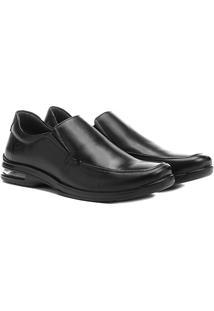 Sapato Conforto Couro Democrata Air Fly - Masculino
