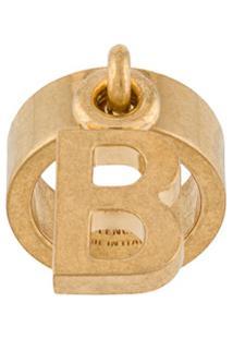 Balenciaga Anel Com Logo B - Dourado