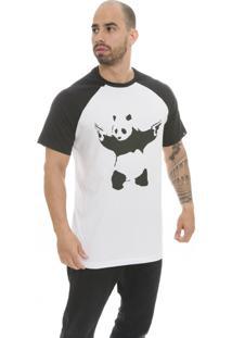 Camiseta Raglan The Garage Custom Tees Panda Gun