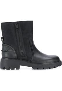 Ugg Australia Ankle Boot Com Recortes - Preto