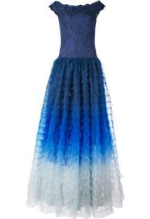 Tadashi Shoji Ombré Flared Gown - Azul