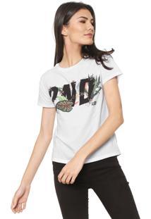 Camiseta Ellus 2Nd Floor Tropical Branca