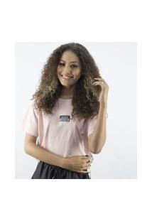 Camiseta Anjuss Cropped Rosa
