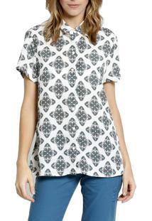 Camisa Manga Curta Energia Fashion Turquesa