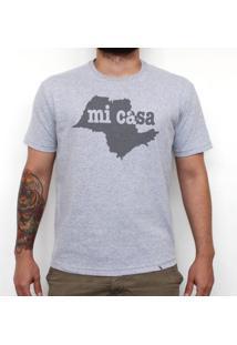 Sp Mi Casa - Camiseta Clássica Masculina