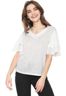Blusa Facinelli By Mooncity Metalizada Branca