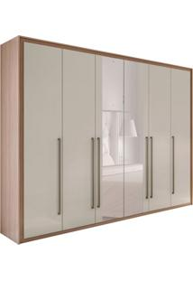 Guarda-Roupa Casal Com Espelho Reali New 6 Pt 6 Gv Carvallho E Off White