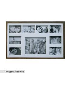 Painel Para 8 Fotos - Marrom & Branco - 43X68Cmkapos