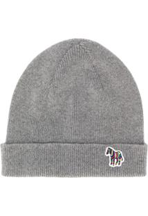 Ps Paul Smith Gorro Com Logo - Cinza