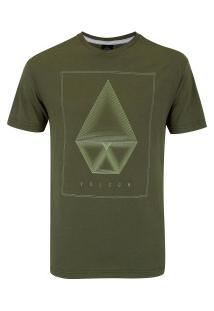 Camiseta Volcom Silk Concentric - Masculina - Verde Escuro
