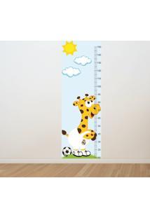 Adesivo Régua De Crescimento Girafa Real Madri (0,50M X 1,50M)