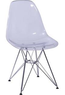 Cadeira Eames- Incolor & Prateada- 80,5X46,5X42Cm