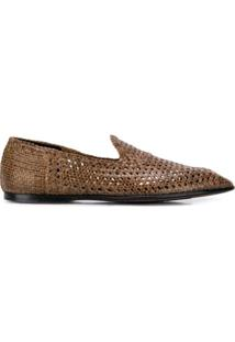 Dolce & Gabbana Slipper Trançado - Marrom