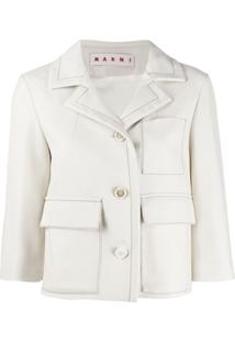 Marni Cropped Fitted Jacket - Neutro