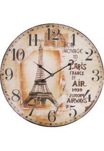 Relógio De Parede Vintage Paris France Kasa Ideia
