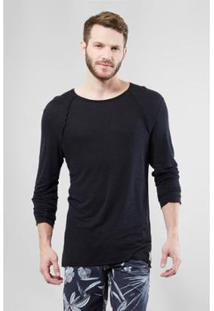 Camiseta Ml Brisa Reserva Masculina - Masculino-Preto
