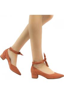 Sapato Zariff Shoes Scarpin Lace Up Em Suede Nude