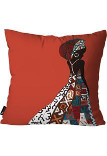 Capa Para Almofada Mdecore Africana Vermelho 55X55