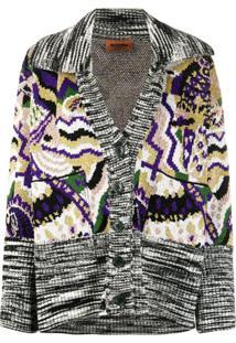 Missoni Intarsia Knit Buttoned Cardigan - Preto