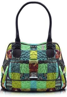 Bolsa Giulianna Fiori Jennifer Clover Em Patchwork Original - Multicolorido - Feminino - Dafiti