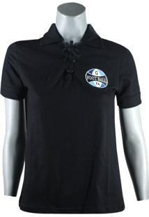 Camiseta Grêmio Retro Vintage Natural Cotton Feminina