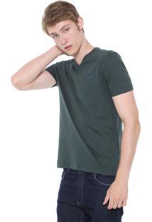 Camiseta Calvin Klein Slim Flamê Verde