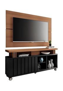 Rack Bancada Com Painel Para Tv Até 50 Pol. Briz H01 Preto/Nature - Mp