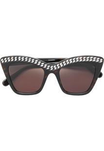 26696968f R$ 3800,00. Farfetch Óculos De Sol De Sol Feminino Marrom Stella Mccartney  ...