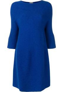 N.Peal Vestido Com Mangas Amplas - Azul