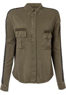 Camisa Eleonora (Verde Militar, M)