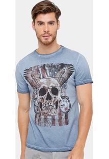 Camiseta Tigs Tinturada Skull Usa Masculina - Masculino