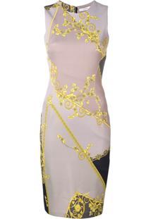 Versace Collection Midi Bodycon Dress - Cinza